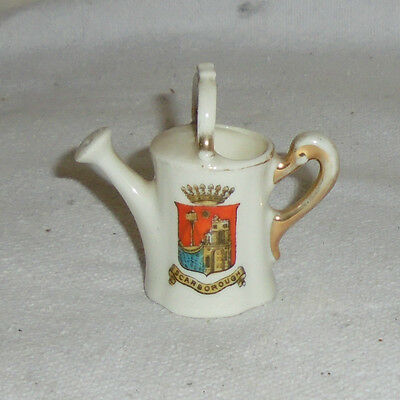 CRESTED China GEMMA Ware WATERING CAN Scarborough SMALL Ornament