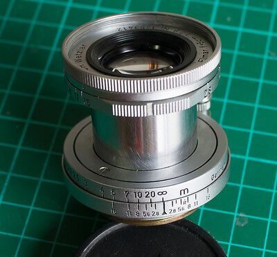 Leica Leitz Wetzlar Elmar 2,8/50 mm  vite Collassabile LEGGERE DESCRIZE