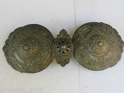 RARE Very Old ANTIQUE OTTOMAN ERA SILVER BELT BUCKLE  HAND MADE from the Balkans