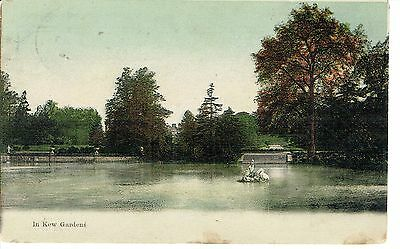"""PPC Of """" In Kew Gardens """" posted 1906"""