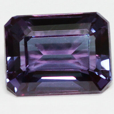 7.00 Ct  Awesome Russian Color Change Alexandrite Octagon Gemstone