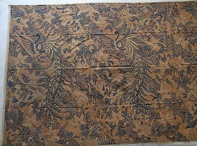 FINE VINTAGE SOLO KAIN PANJANG, INDONESIA, 4x LG BIRDS/BUTTERFLIES FLORAL BANDS