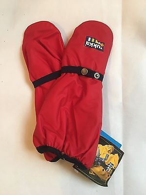 Rukka Lined Childrens Mittens Red