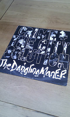 """CRIME + THE CITY SOLUTION Gangling Man EP 12"""" 1985 RARE 80s Rock Mute"""