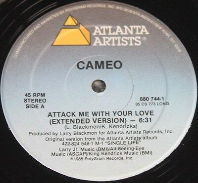 "CAMEO * ATTACK ME WITH YOUR LOVE * Classic Soul Funk Boogie 12"" Vinyl"