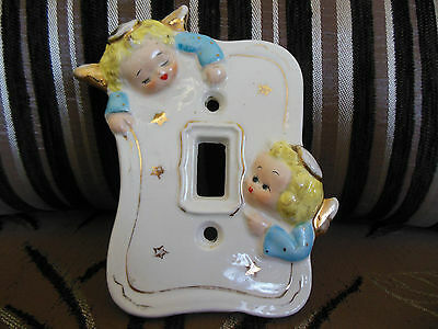Vintage RARE Single Porcelain Light Switch Cover Yona Originals JAPAN - USED