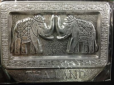 Magnetic note paper  holder Thai Elephant for office and refrigerator
