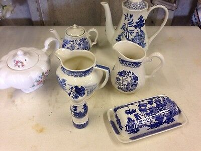 Churchill Willow pattern And Various Brands Pottery
