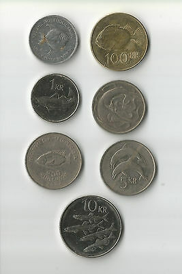 Assorted world coins all with images of fish