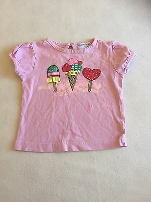Baby Girls Clothes 6-9  Months - Cute  T Shirt Top - We Combine Postage