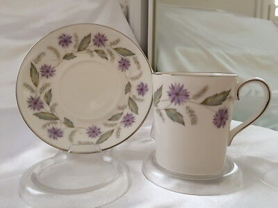 ♡ ROYAL ADDERLEY CHARMAINE PURPLE FLORAL DUO TEACUP & SAUCER  more instore