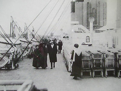 Titanic Postcard- Strollers On The Boat Deck 1912