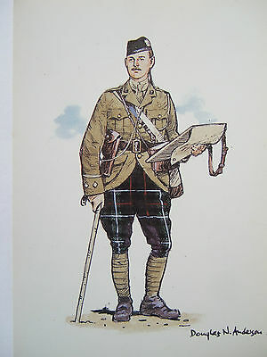Scottish Military Postcard-Officer Highland Light Infantry 1913-14 By D.anderson