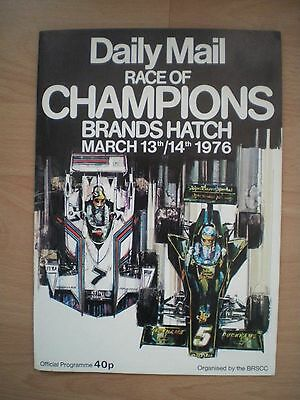 Daily Mail Race Of Champions Brands Hatch March 1976 Programme