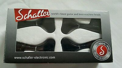 schaller tuners M4 bass in black 2L 2R Boxed