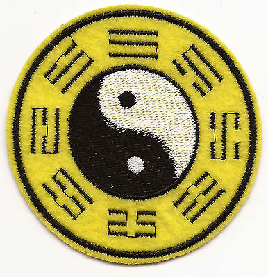 Ying Yang Symbol with Trigrams Embroidered Patch Iron-on Good Luck Charm