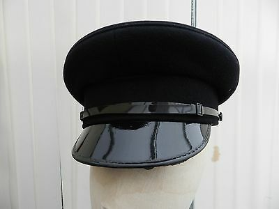 ROYAL NAVY/POLICE OFFICER'S PEAKED CAP sz 7.1/4 59cm  Ideal for WW2  3