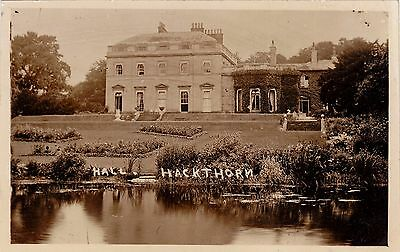 RPPC Hackthorn Hall, Lincoln, from the lake, c1910
