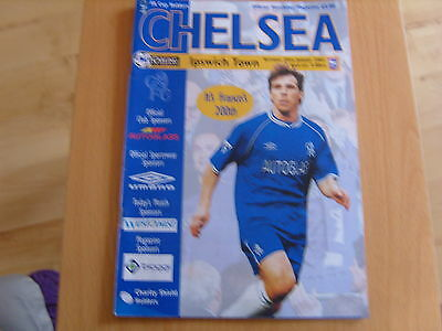 CHELSEA v IPSWICH TOWN AUTOGRAPHED PROGRAMME 20th January 2001