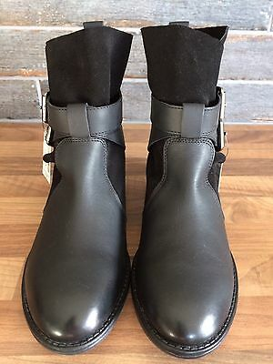 Next Older Girls Black  Leather Boots Size 3 BNWT