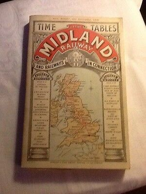 Midland Railway timetables July August September 1903 reproduction paperback
