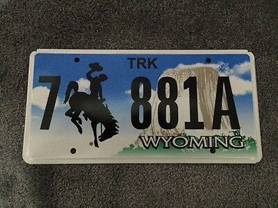 USA Genuine Registration Licence Number Plate Wyoming American