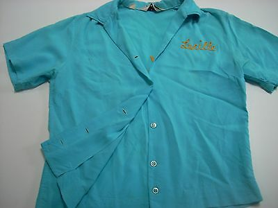 301 better than perfect 1950s women's vintage bowling shirt size 32 music group