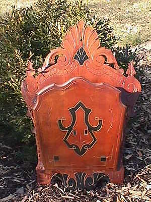 Victorian WALNUT 1880's EASTLAKE Carved ORNATE Wood WALL POCKET Letter Holder