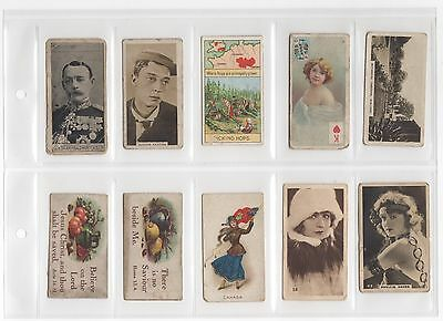 10 Early Vintage Cigarette Cards