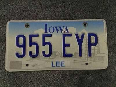 USA Genuine Registration Licence Number Plate Iowa Rare Embossed American