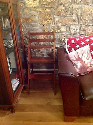 Antique Reproduction Mahogany Metamorphic Library Stepladder Chair for Christmas