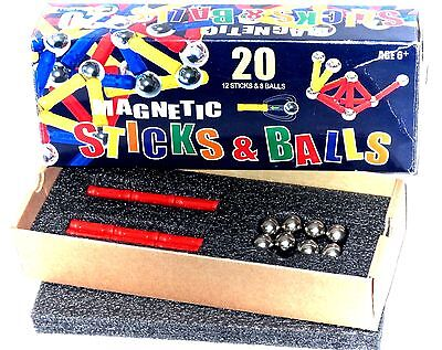Magnetic 20 Piece Building Set Boxed Bv Leisure Like Geomag Magnetix