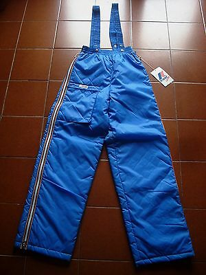 """Kway France Suit Dungarees Salopette Trousers Ski Winter Snow Shiny 1970 S40 30"""""""
