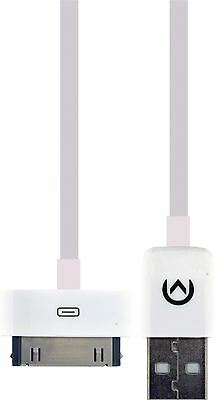 Mobilize Sync and Charge Cable Apple Dock 30-pin to USB A Male 1m White