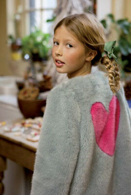 I Love Gorgeous Baby Kids Pink Heart Coat 2-3 Years