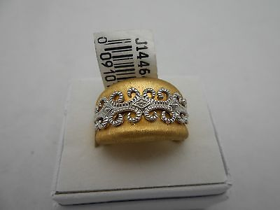 NEW SOLD OUT QVC 18k 750 Yellow Gold Wide Cocktail Band Ring Size 6 or 7