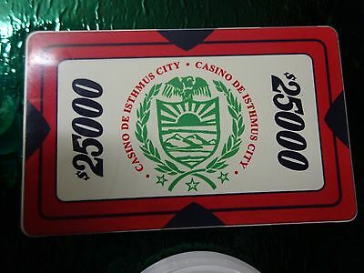 JAMES BOND 007 Collection Of Casino Chips x6 Including Dealer & $25000 Chip