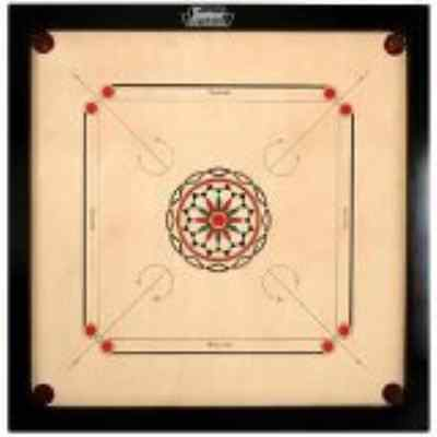 Surco Ellora Carrom Board with Coins and Striker, 8mm Full Size