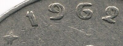 Belgium : 1 Franc 1962 French Legend Doubled Date