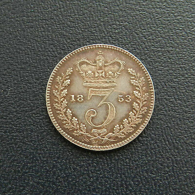 1853 Victoria Proof Maundy Threepence Alignment Axis Extremely Rare