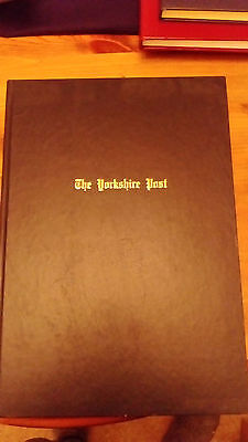 Yorkshire Post Souvenir A3 book - 1941 - All front pages