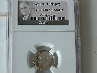 2013-S Silver Roosevelt Dime - Ngc Pf-70 Ultra Cameo