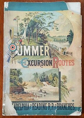 Summer Excursion Routes Philadelphia and Reading Railroad 1881 Great Engravings