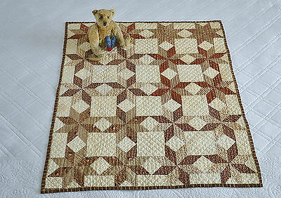 Antique 19th century Hand Stitched Dolls or Sampler Quilt