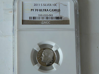 2011-S Silver Roosevelt Dime - Ngc Pf - 70 Ultra Cameo
