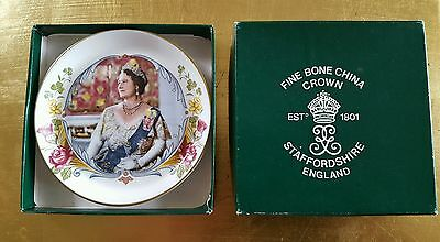 Royal Queen Mother China Plate 80th Birthday commemorative Memorabilia