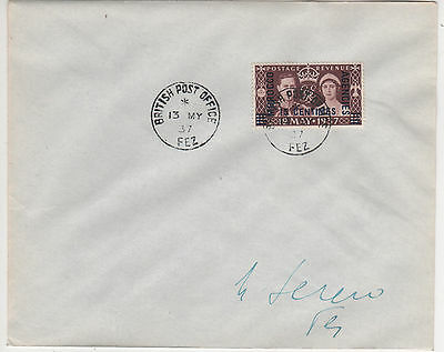 Morocco Agencies- Gvi 1937 Coronation First Day Cover