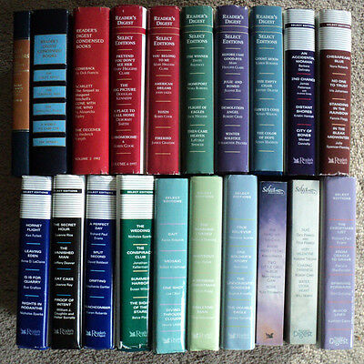 Lot of 20 Reader's Digest Condensed Books Select Editions HC w/ DJ Decorative