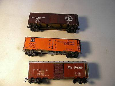Lot of 3 Vintage HO Trains Metal Cars Athearn/Globe/Varney all cars complete
