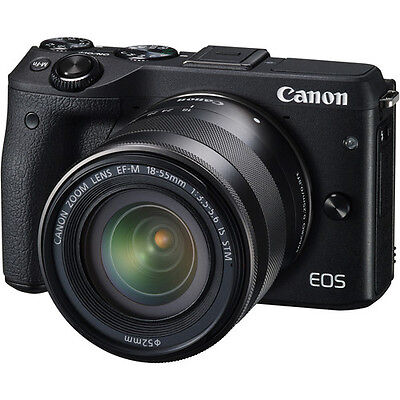 Canon EOS M3 Mirrorless Digital Camera with 18-55mm Lens Black - BRAND NEW!!